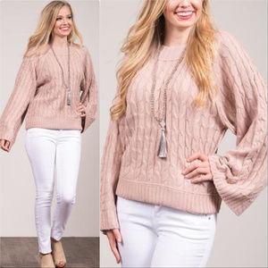 Sweaters - BLUSH KNIT SWEATER